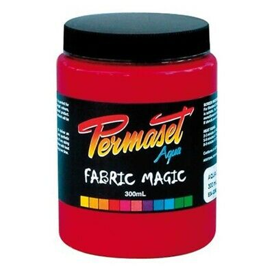 Permaset Aqua 300ml Fabric Printing Ink - Bright Red - Screen Waterbased Choose