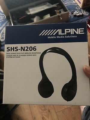 Alpine Shs-N206 Wireless Headphone Tme Pkg Monitors, New