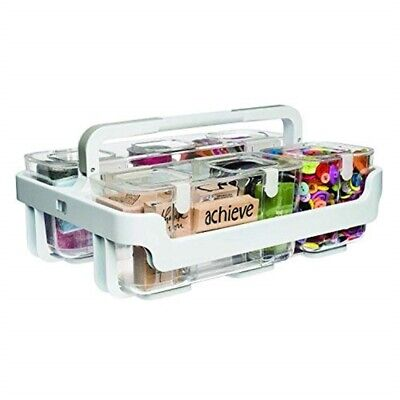 Deflecto Caddy Organizer With Small, Medium And Large Compartments-white, -