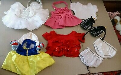 8x B-A-B Build A Bear CLOTHES Snow White Costumes ANGEL Soccer SHOES Undies LOT