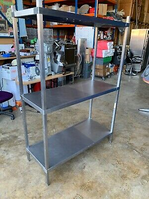 3 Level Heavy Duty Stainless Steel Shelving Racking 120cmW Catering