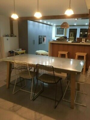 LOAF DADDY ZINC (LARGE) Dinning Room Table & 4 x Chairs