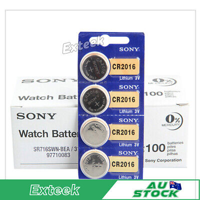 SONY CR 2016 3V Lithium Batteries Watch Batteries