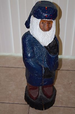 32+ Inch Old Bearded Sailor Wood Chainsaw Carving Decor Nautical Gnome