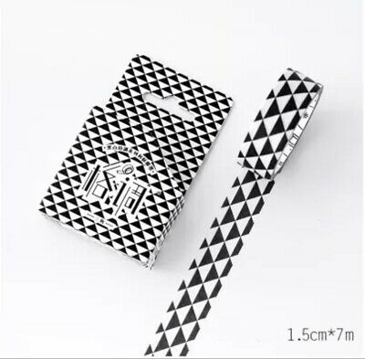 Japan Washi Tape - Black and White Geometry 15mm x 7m  MT340