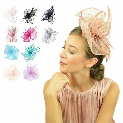 Ladies Flower Feather Fascinator Aliceband Hat Hair band Formal Race Royal Ascot