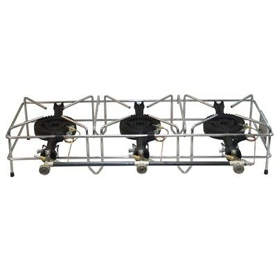 Triple Medium Chrome Plated Wire Framed 12kw Foker Burner with FFD Thermocouple
