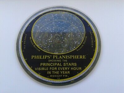 Vintage 1970's Philips Planisphere - Showing Principal Stars in the Night Sky