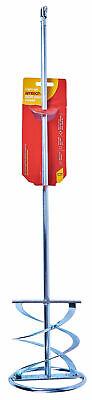 600 X 120Mm Sds Spiral Paddle Mixer Whisk For Paint Plaster Render By Am-Tech