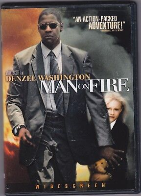 """""""man On Fire"""" Denzel Washington (Dvd) Excellent Movie (Keeps You On The Edge)"""