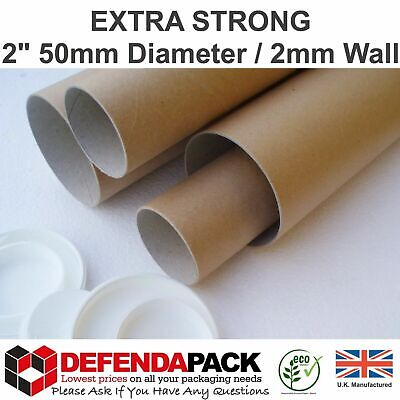 """24 x 34.5 x 2"""" (A0) 875  50  2mm Wall Extra Strong Mailing Postal Tubes Artwork"""