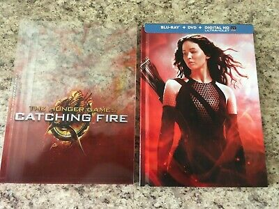 The Hunger Games CATCHING FIRE Blu-ray + DVD Combo Digibook Pack with Sleeve