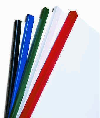 Plastic Slide Binders - A4, various colours & quantities, sizes from 5mm to 17mm
