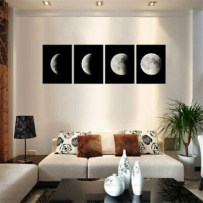 New Canvas Prints Wall Art Painting Pictures Home Decor Abstract Moon Black