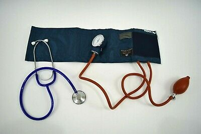Henry Schein Aneroid Sphygmomanometer Latex Safe Adult Size with Stethoscope