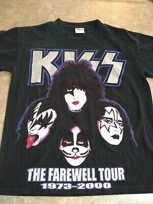 5abb794f743 Vintage Kiss Tour T Shirt Men s L The Farewell Tour 1973-2000 Rock Band T