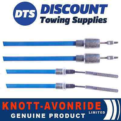 Ifor Williams Knott Stainless Steel Detachable Trailer Brake Cable 730mm x2