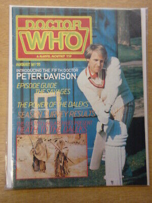 Doctor Who #55 1981 Aug British Weekly Monthly Magazine Dr Who Dalek Cybermen