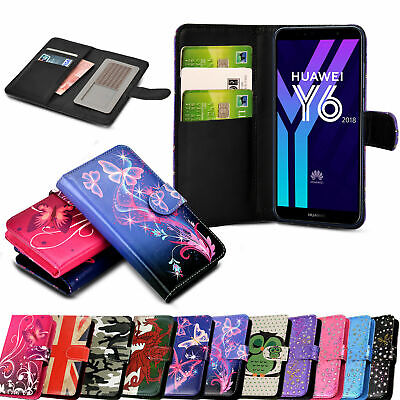 Case Cover For Huawei P20 P Smart Y6 2018 Lite/P20 Pro/Flip Wallet Leather Stand