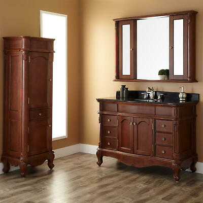 Signature Hardware 48 Sedwick Brown Cherry Vanity