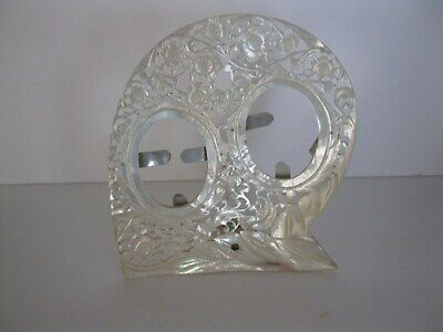 Large Antique Carved Mother of Pearl Shell Picture Frame High Detail