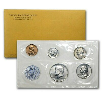 1964 P US Proof 5 Piece Set In Original packaging from US mint