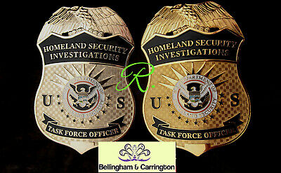 q7/ Historisches police badge/ HSI  Task Force Officer, choose gold  OR  silver