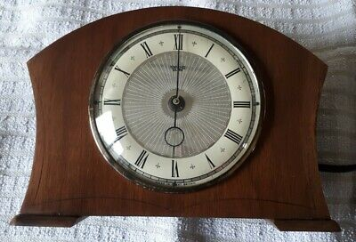 LOVELY VINTAGE 1950s SMITHS SECTRIC MANTLE MANTEL CLOCK VGC - WORKING FULLY QAT