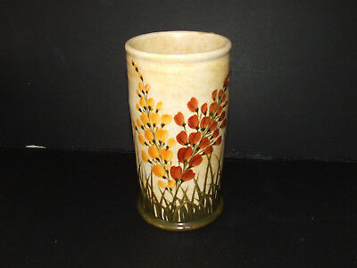 """A  E RADFORD VINTAGE Vase Hand painted 6 1/2"""" high   POTTERY Good con"""