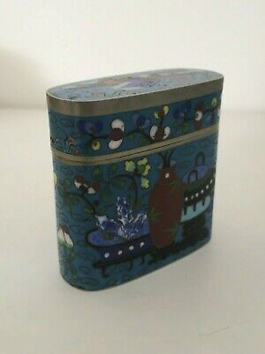 Fine 19 Th Century Chinese Cloisonne Box Qianlong Mark To Base
