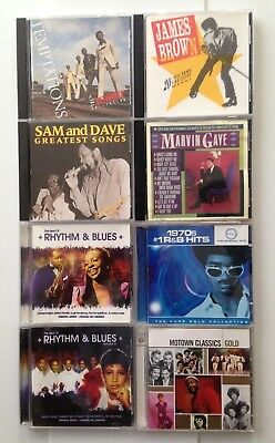 Soul + Motown + R&B CDs = 8 Great CDs - Temps JB Sam & Dave Marvin Motown & more