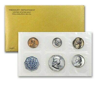 1962 US Proof Set 5 Piece Set In Original packaging from US mint