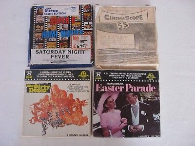 Super 8 Lote 4 Peliculas Saturday Night 12 Patibulo Easter Parade de 50 metros