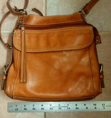 921eac89ee3 EUC  168 FOSSIL COREY Crossbody Brown Leather Bag Purse ZB6845 ...