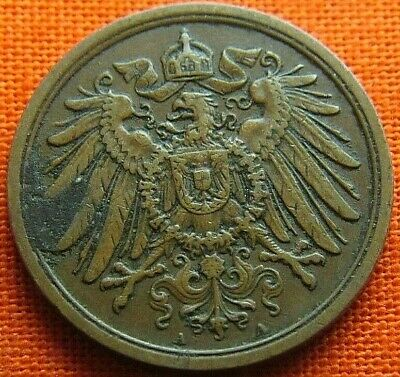 Germany 1914 - A 2 Pfennig German Empire Coin (Wc2099)