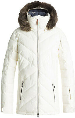 SALE!!! BOGNER NASKA Ski Jacket Women White With Real Fur Hood Trim ... 04c0f7ace