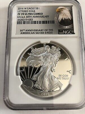 2016-W American Silver Eagle Proof - NGC PF70 UCAM
