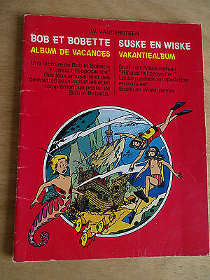 Bob et bobette album de vacances, Willy Vandersteen Album bilingue nl/fr.