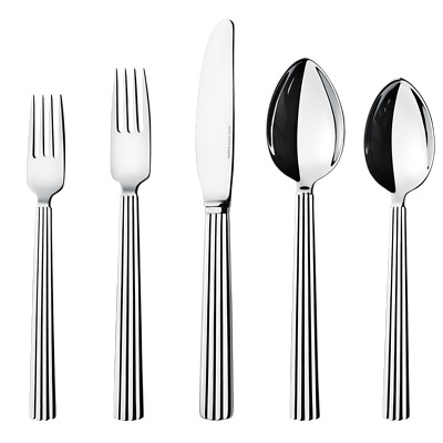 Bernadotte by Georg Jensen Stainless Steel Flatware 5 Piece Place Setting New