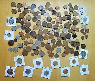 1.2kg+ BRITISH COIN JOB LOT, OLD COPPERS, DECIMAL EX-PROOFS, MIXED PRE-DECIMAL.
