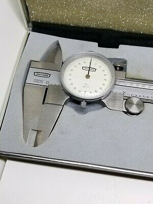 Craftsman .001 6 Inch Analog Dial Caliper With Case Hardened Stainless