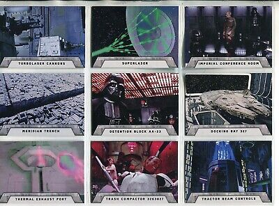 Star Wars Rogue One Mission Briefing Complete 9 Card The Death Star Chase Set