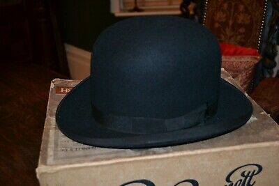 Vintage Woodrow Amylyte Bowler Hat and Lincoln Bennett Hats Box