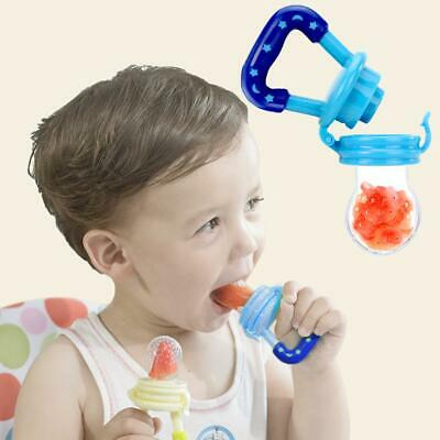 Portable Baby Food Fruit Nipple Feeder Pacifier Safety Soft Silicone FeedingTool