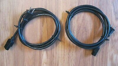 Pair of OEM Boston Acoustics VR965 VR975 AC Power Cords - Excellent Condition