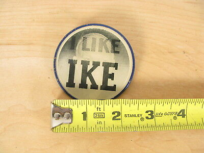 "Vtg 1950's Dwight Eisenhower ""I LIKE IKE"" Campaign Political Flasher Button PIN"
