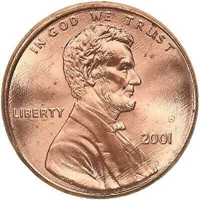 2001 Lincoln Memorial Cent BU Penny US Coin