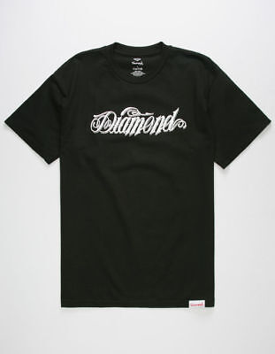8bf9ee43097 Vtg New Diamond Supply Co Giant Script Black Shirt Tee Logo Obey Limited Sz  M
