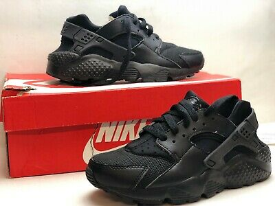 e239baae2c7f3 654275-016 Nike Huarache Run GS Grade School Kids Athletic Shoes Black Size  4Y