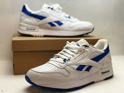 d0c6a0c8690 Reebok Classic Authentic Leather 2.0 BS8426 Mens Size 8 White Blue DISPLAY  SHOES